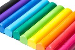 Pâte colorée de jeu Photographie stock