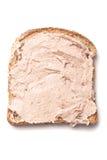 Pâté spread on slice of bread Stock Photography