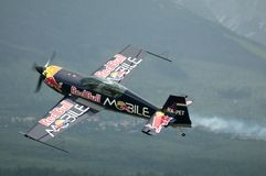 Péter Besenyei piloting Extra 300S Royalty Free Stock Image