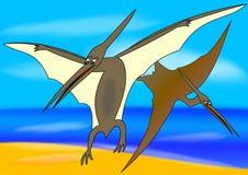 Pteranodon - oiseau préhistorique Photographie stock