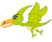 Pterodátilo animal pré-histórico do pássaro Pterodátilo pré-histórico faminto do dinossauro do pássaro Imagens de Stock