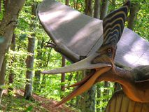 pterodactyl Πετώντας δεινόσαυρος στοκ εικόνα