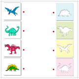 Pterodactyl, Diplodocus, Tyrannosaurus and Stegosaurus. Educatio Royalty Free Stock Photos
