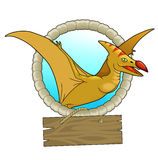 Pterodactyl. Flying high in the sky Stock Photography