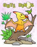 Pterodactyl, sitting in a tree Stock Photo