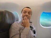对飞行- Pteromerhanophobia的恐惧 免版税库存照片