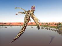 Pterosaur Peteinosaurus Stock Photo