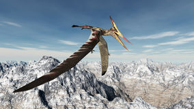 Pterosaur Pteranodon. Computer generated 3D illustration with the pterosaur Pteranodon Royalty Free Stock Image