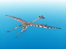 Pterosaur Quetzalcoatlus royalty-vrije illustratie