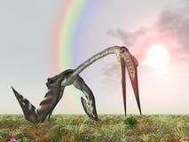 Pterosaur Quetzalcoatlus stock abbildung