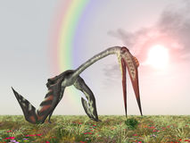 Pterosaur Quetzalcoatlus Royalty Free Stock Photos