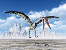 Pterosaur Quetzalcoatlus Stock Images
