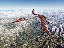 Pterosaur Quetzalcoatlus Stock Image