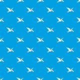 Pterosaurs dinosaur pattern seamless blue. Pterosaurs dinosaur pattern repeat seamless in blue color for any design. Vector geometric illustration Stock Photo