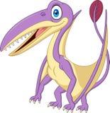 Pterosaurus de sorriso dos desenhos animados ilustração stock