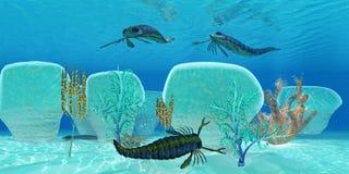 Ocean Pterygotus Scorpion Fish stock illustration