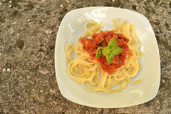 Pâtes dans l'art italien Photos stock