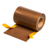 PTFE coated glass fabric with self adhesive layer  Royalty Free Stock Photos
