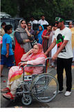 PTI Supporter on Election Day in Karachi, Pakistan Stock Photography