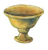 Pátina envejecida en el pote de la planta de la terracota Foto de archivo libre de regalías