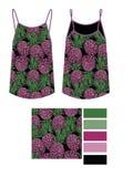 Ptlrinted de manier technische schets van in ananassen op zwarte achtergrond Stock Foto's