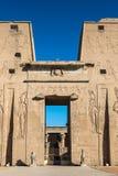 Ptolemaic świątynia Horus, Edfu, Egipt Zdjęcia Stock