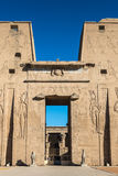 Ptolemaic Temple of Horus, Edfu, Egypt. Stock Photos
