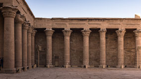 Ptolemaic Temple of Horus, Edfu, Egypt. Stock Photo