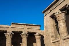 Ptolemaic Temple of Horus, Edfu, Egypt. Royalty Free Stock Photo