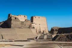 Ptolemaic Temple of Horus, Edfu, Egypt. Stock Photos