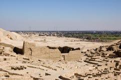 ptolemy för deirel-medina tempel Fotografering för Bildbyråer
