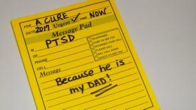 PTSD- desorden traumático de la tensión de los posts fotografía de archivo