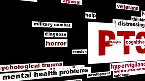 PTSD mental health problems stock video footage
