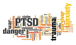 PTSD victim stock illustration