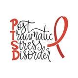 PTSD. Post traumatic stress disorder vector illustration. vector illustration
