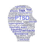 PTSD symbol isolated on white background. Anxiety disorder symbol conceptual design Royalty Free Stock Image