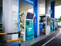 PTT firmy Ngv gazu naturalnego pojazdu benzynowa stacja Zdjęcia Royalty Free