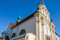 Ptuj, η εκκλησία μοναστηριών Minorite και του ST Peter και του ST Paul στοκ εικόνες