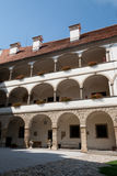 Ptuj Castle - colonnaded facade in the main courtyard Stock Photography