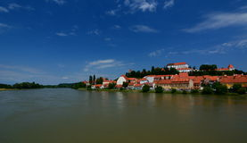 Ptuj castle and Drava river. Styria. Slovenia Stock Photo