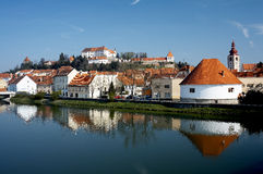 Ptuj Castle. Is a castle in Ptuj, Slovenia. It is situated on a hill alongside the river Drava overlooking the town, and is a prominent landmark. The castle was Royalty Free Stock Photography
