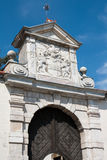 Ptuj Castle - Stony relief above exterior gate Stock Image