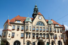 Ptuj - The City Hall facade. City Hall is historic building located in City Square - Slovenia Stock Photos