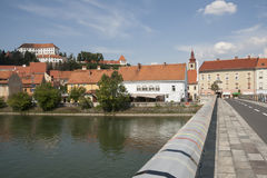 Ptuj - Drava river Royalty Free Stock Photo