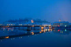 Ptuj And Drava River In Winter Royalty Free Stock Photo