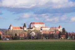 Ptuj, Eslovenia, tiro panorámico de la ciudad más vieja en Eslovenia Foto de archivo
