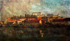 Ptuj, la ciudad más vieja de Eslovenia Imagen de archivo libre de regalías