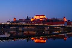Ptuj By Night, Slovenia Stock Image