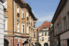 Ptuj - Old town center Royalty Free Stock Photography