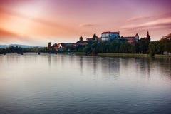 Ptuj, Slovénie, tir panoramique de la ville la plus ancienne en Slovénie Images stock